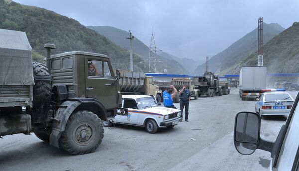 На пограничном таможенном пункте при въезде в Южную Осетию