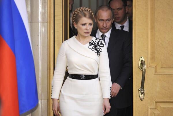 Встреча премьер-министра РФ В.Путина с Ю.Тимошенко