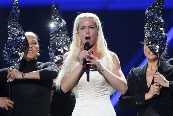 Певица Хадисе в СК Олимпийский во время репетиции