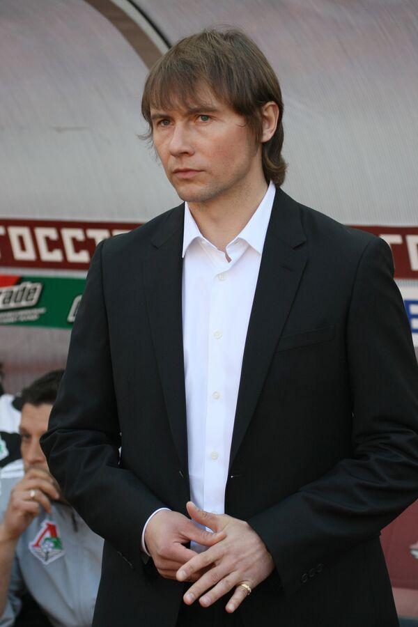 Владимир Маминов во время матча: Локомотив (Москва) - Спартак (Нальчик)
