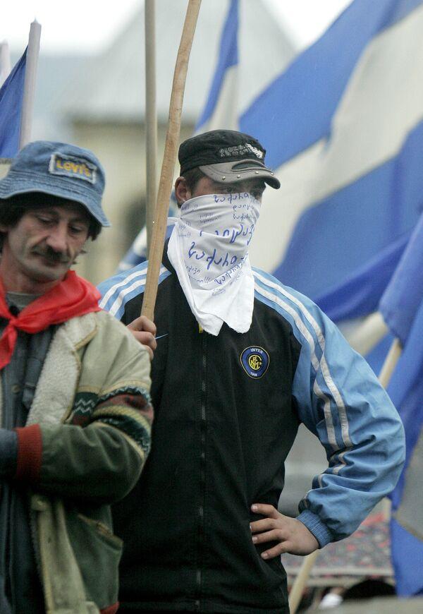 Акции протеста оппозиции в Тбилиси
