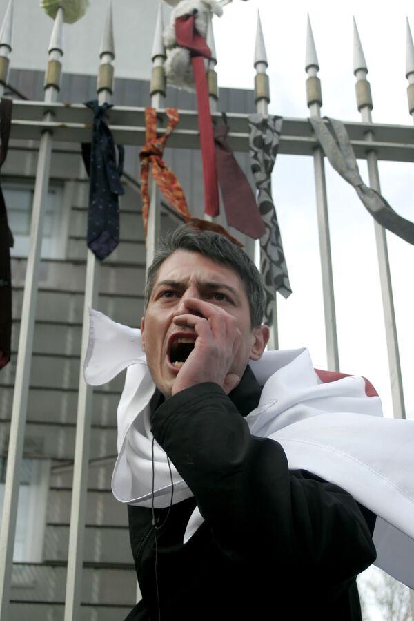 Акции протеста перед резиденцией президента Грузии
