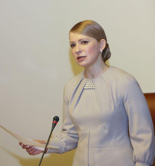 Тимошенко обещает, что Украина проживет год без газовых стрессов