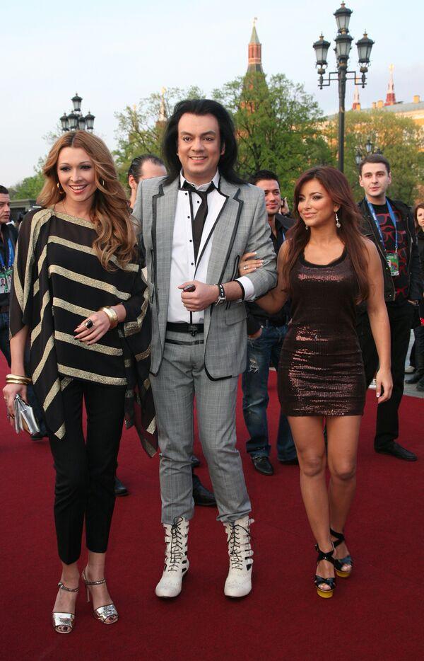 Анжелика Агурбаш, Филипп Киркоров и Ани Лорак на официальном открытии конкурса Евровидение-2009 в Евродоме