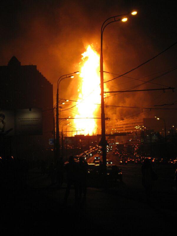 пожар на мичуринском проспекте вчера фото фотографа
