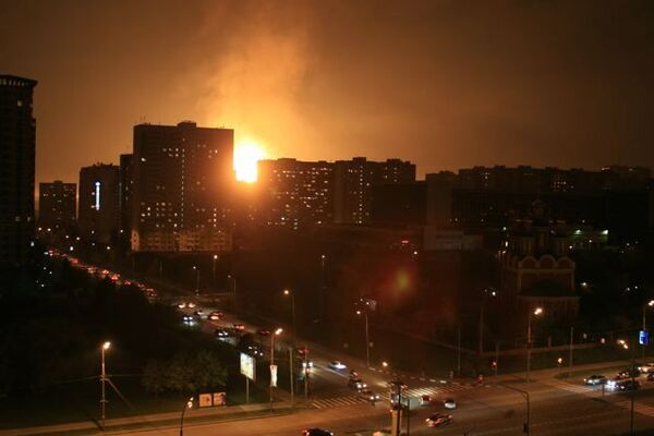 Взрыв газопровода на Мичуринском проспекте