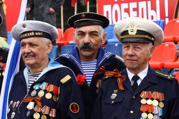 Ветераны в День Победы. Архив