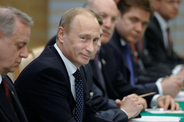 Премьер-министр РФ В. Путин принял участие в российско-японских переговорах