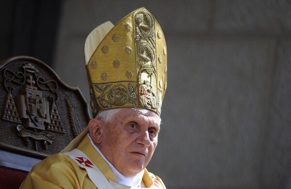 Папа Римский Бенедикт XVI в Вифлееме
