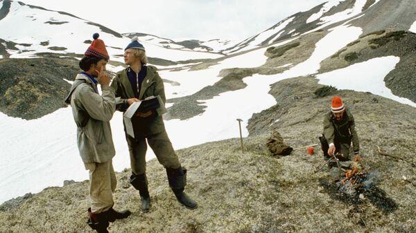 Геологи на Камчатке