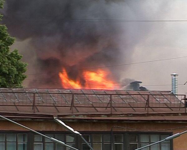 Пожар в центре Москвы тушили с вертолетов