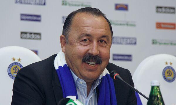 Новый главный тренер киевского Динамо Валерий Газзаев во время официального представления