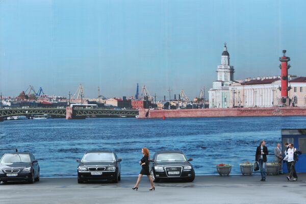 Набережная в Санкт-Петербурге. Архив