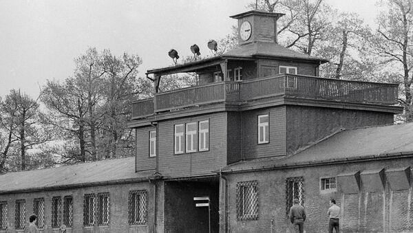 Главный вход на территорию бывшего концлагеря Бухенвальд