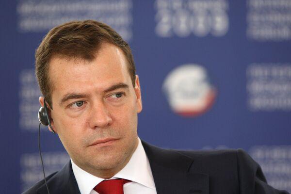 Д.Медведев провел рабочий завтрак с представителями международных корпораций и банковского сообщества