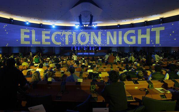 Ожидание результатов на выборах в Европейский парламент