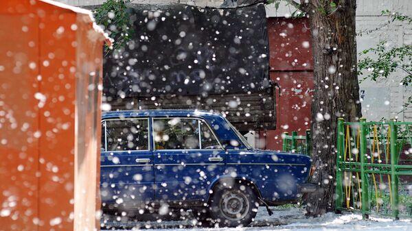 Тополиный пух в Москве