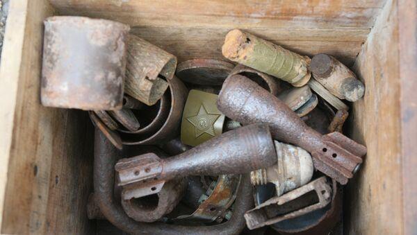 Коллекция вещей и оружия, сохранившаяся с времен ВОВ