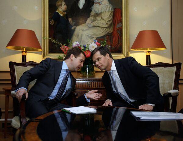 Медведев отмечает глубокие бизнес-связи России и Нидерландов