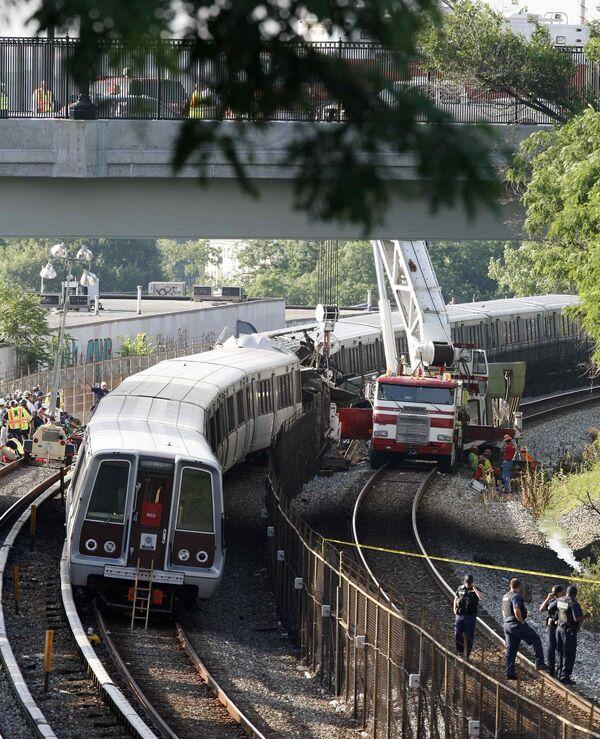 Столкновение поездов в Вашингтонском метро