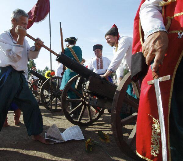 Военно-исторический фестиваль Полтава-2009 в Полтавской области