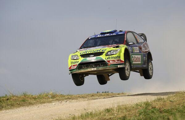 Микко Хирвонен во время этапа чемпионата мира WRC в Польше