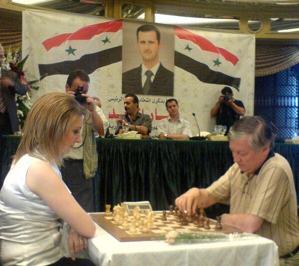 В столице Сирии открылся шахматный центр Анатолия Карпова