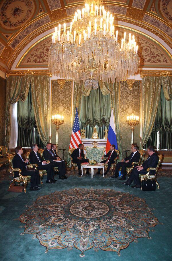 Встреча Дмитрия Медведева и Барака Обамы в Кремле