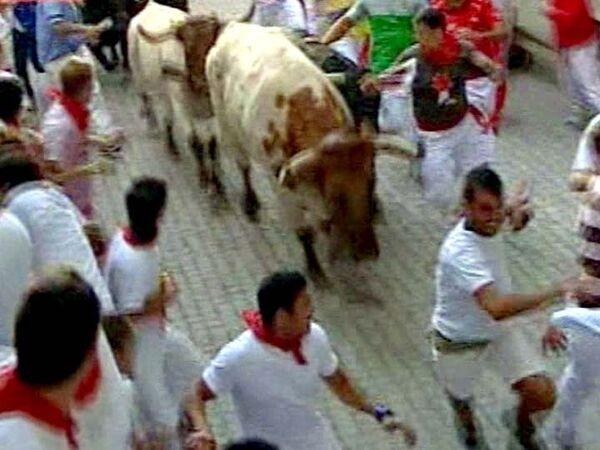 Наперегонки с быками: смельчаки со всего мира собрались в Памплоне