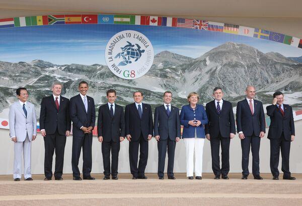 На саммите большой восьмерки G8-2009
