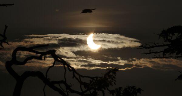 Солнечное затмение в Индии