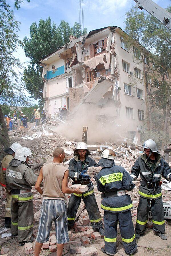 Обрушение общежития в Астрахани