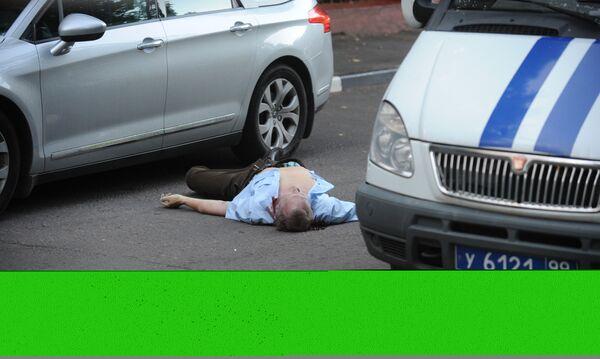 На Ломоносовском проспекте в Москве застрелен мужчина