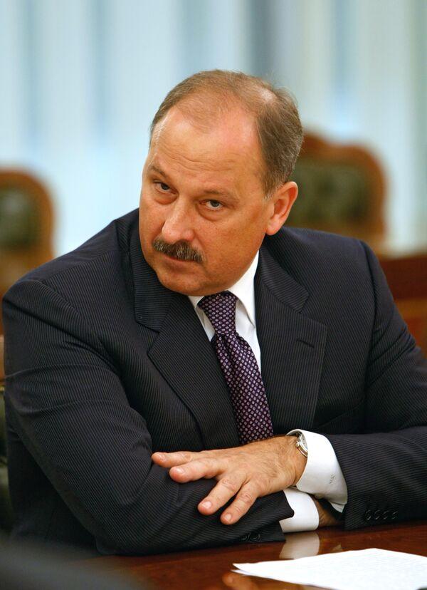 Владимир Дмитриев на заседание наблюдательного совета госкорпорации Банк развития и внешнеэкономической деятельности. Архив