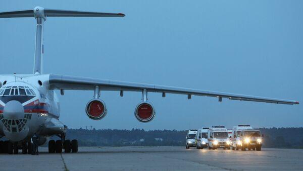 Самолет МЧС с ранеными при теракте в Назрани вылетел в Москву
