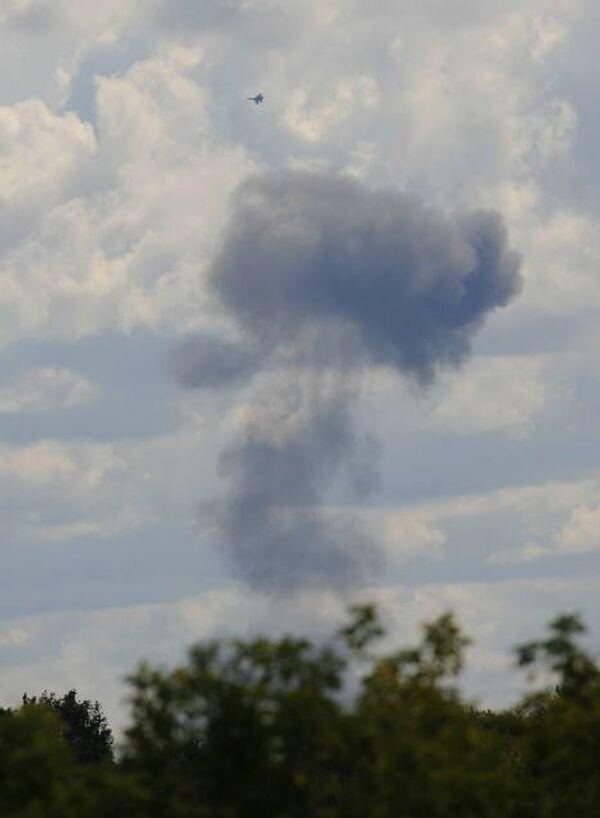 ЧП в небе над Жуковским во время подготовки к МАКС-2009