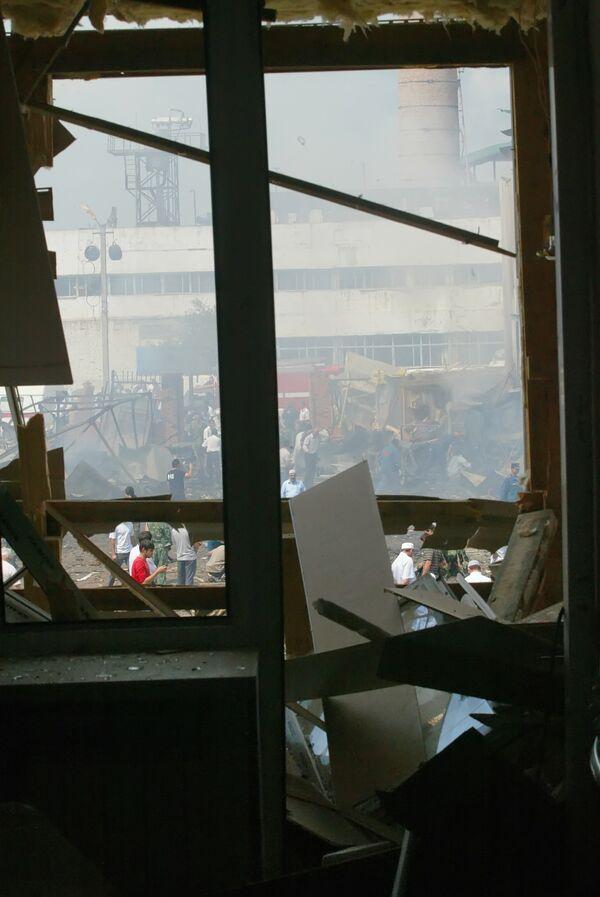 На месте теракта в Назрани