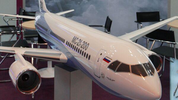 Макет пассажирского самолета МС-21. Архив