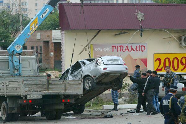 Взрыв на улице Жуковского в Грозном