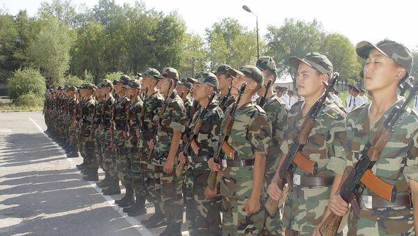 Киргизские военные. Архивное фото