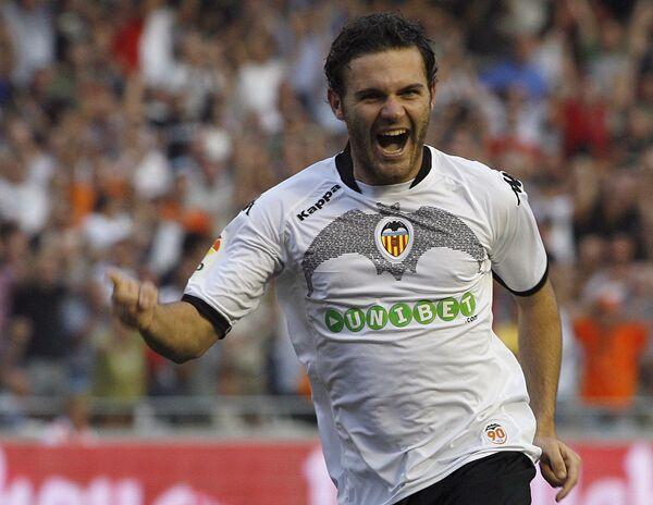 Футболист Валенсии Хуан Мата