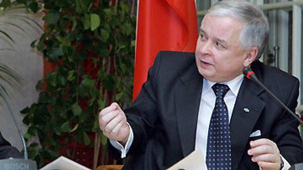 Президент Польши подпишет Лиссабонский договор 10 октября