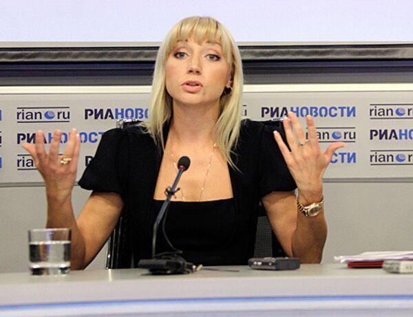 Пресс-конференция певицы Кристины Орбакайте в РИА Новости