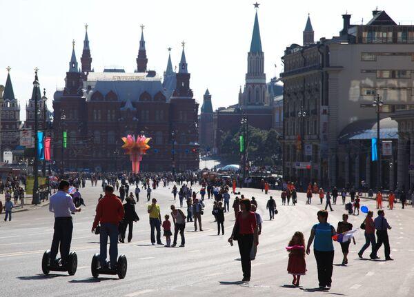 В День города Москвы на Тверской улице