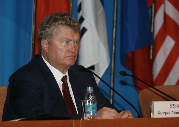 Заместитель председателя Госдумы РФ Валерий Язев на четвертом Дальневосточном международном экономическом форуме