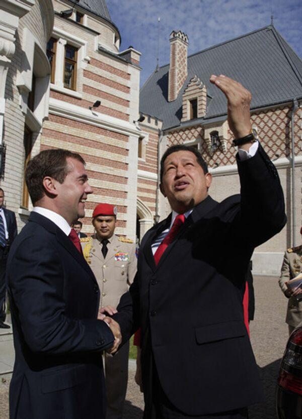 Президенты России и Венесуэлы Дмитрий Медведев и Уго Чавес