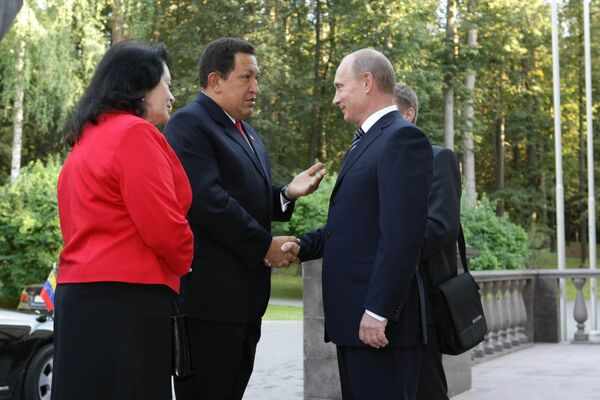 Встреча премьер-министра РФ Владимира Путина с Уго Чавесом