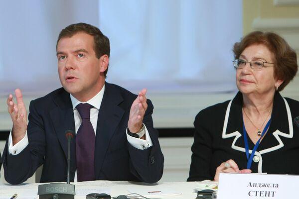 Встреча Д.Медведева с членами дискуссионного клуба Валдай состоялась в ГУМе