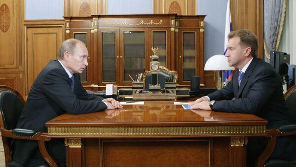 Владимир Путин и Игорь Шувалов. Архив