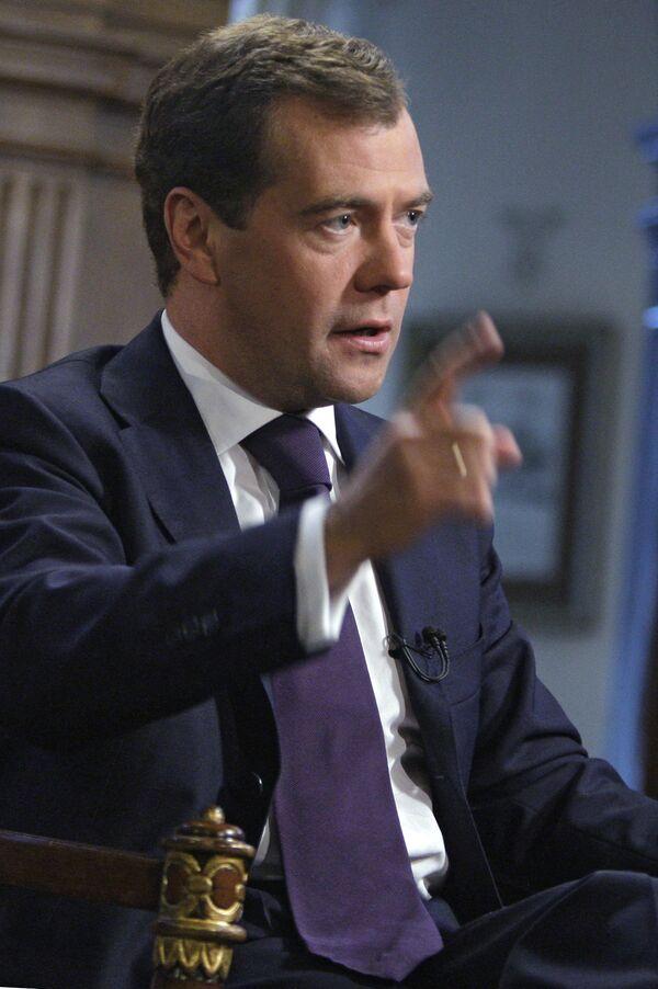 Интервью президента РФ Дмитрия Медведева представителю американских СМИ